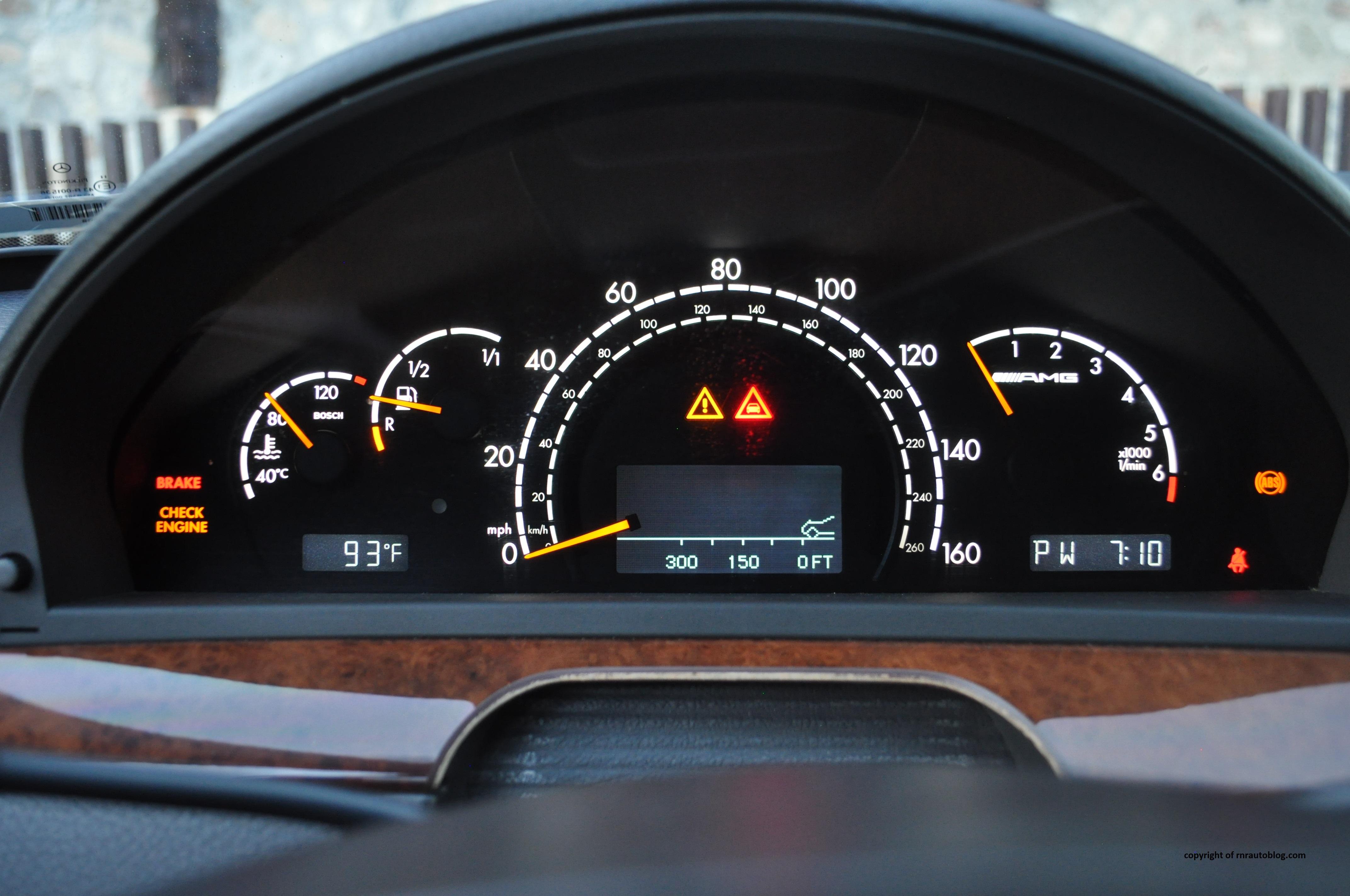 2001 mercedes benz s55 amg review rnr automotive blog s55 gauges publicscrutiny Images