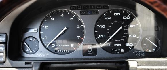 Sedan's gauges